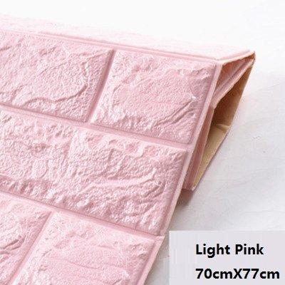 Buy Self Adhensive 3D Brick Wall Stickers Living Room Decor Foam ...
