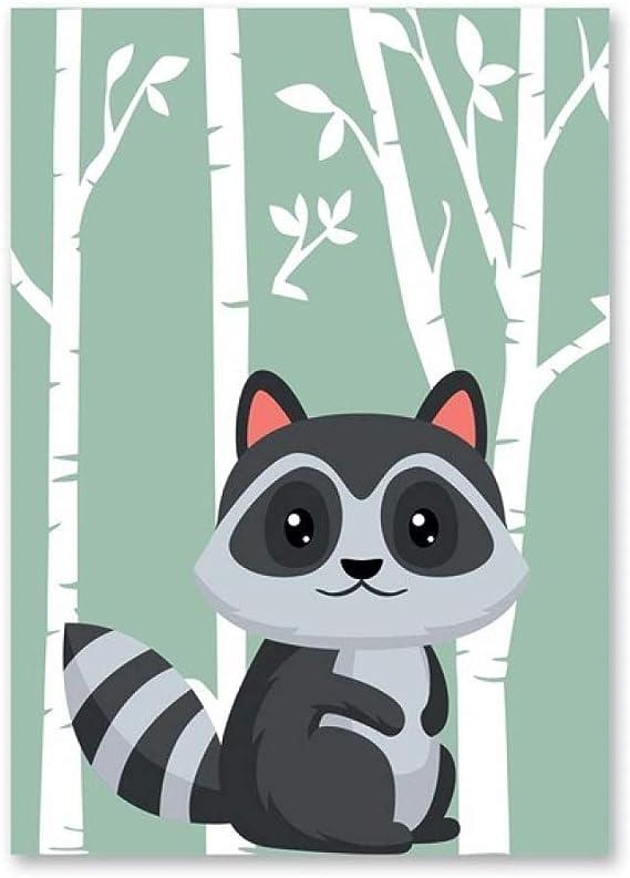 LiMengQi2 Bosque Dibujos Animados Animales Carteles ...
