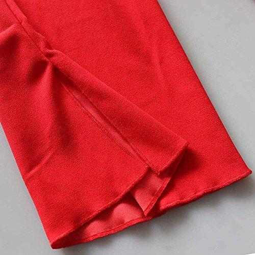 Ragazza Moda Tops Giacca 4 3 Cardigan Libero Camicetta Abbigliamento Corto A Estivi Primaverile Donna Maglia Eleganti Manica Monocromo Rot Tempo qqBgTOx