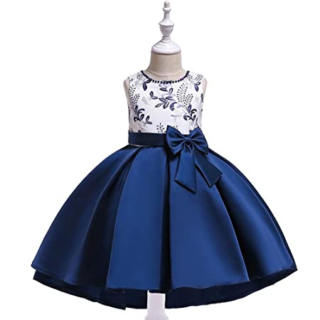 YFDXQY Niñas sin Mangas Vestidos de Princesa para Baile Nocturno ...
