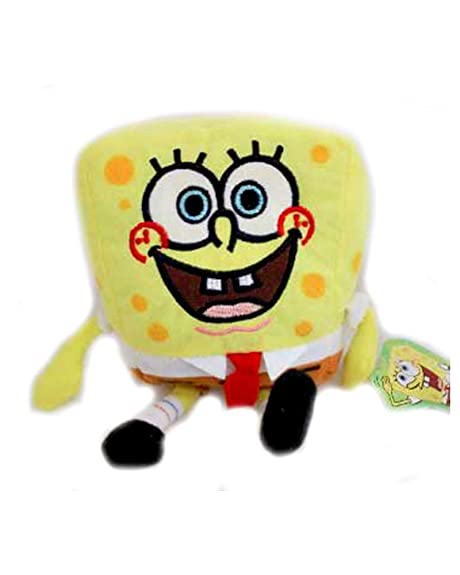 Peluche Bob Esponja cuadrada Spongebob altura 12 cm x 10 cm