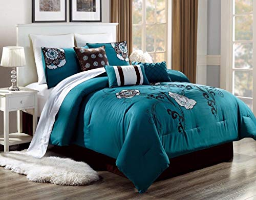 Bed Collection 3PC Embroidery Duvet Comforter Bed Cover Set W/Pillow Shams Color Alex # 3 Size King from Unknown