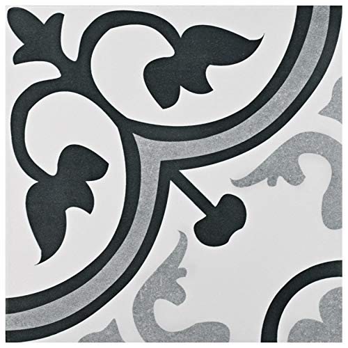 SomerTile FCG12AMB Canton Ceramic Floor and Wall Tile, 12.38