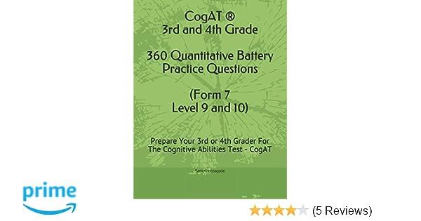 Cogat 3rd And 4th Grade Quantitative Battery Practice Questions