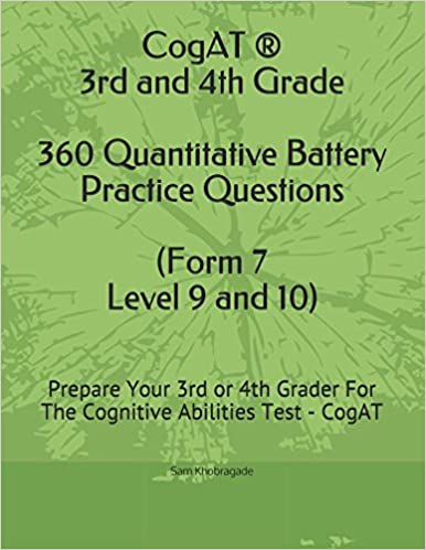 CogAT 3rd And 4th Grade Quantitative Battery Practice