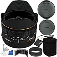 Sigma 15mm f/2.8 EX DG Diagonal Fisheye Lens for Nikon AF Bundle with Manufacturer Accessories & Accessory Kit (23 Items)