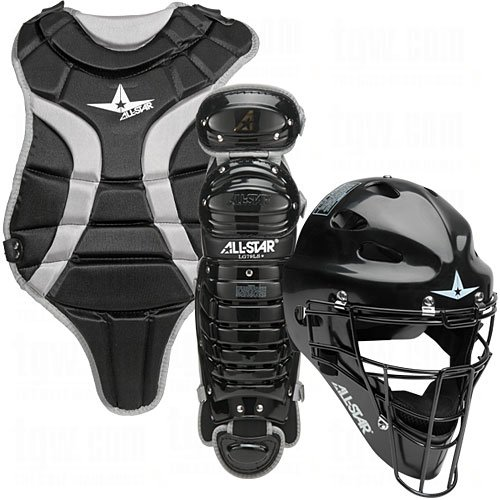 All Star Youth League Series Catchers Gear Sets Ages 7-9 Black