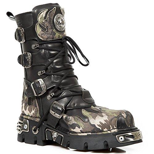 (New Rock Men's Black Flame Boots Reactor M.591-S15 EU 43)