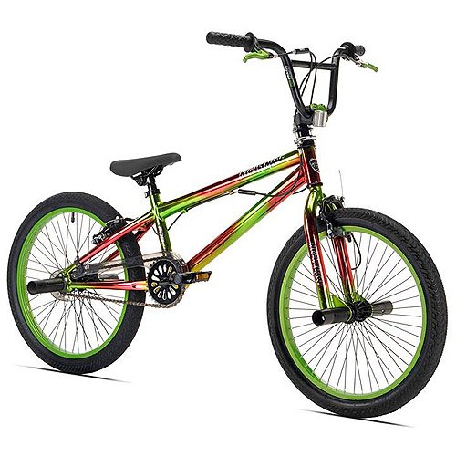 Boys 20'' Bike Green Hand Brakes Freestyle Bicycle steel 100 lbs single speed by L&L Merchandise