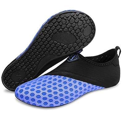 Barerun Summer Outdoor Barefoot Water Skin Shoes Aqua Socks for Beach Swim Surf Yoga Sprot Exercise Blue 4.5-5.5 B(M) US
