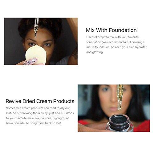 Hot 24k Rose Gold Elixir Skin Make Up Oil For Face Essential Oil Before Primer Foundation Moisturizing Face Oil Anti-aging by Bao Te' (Image #5)