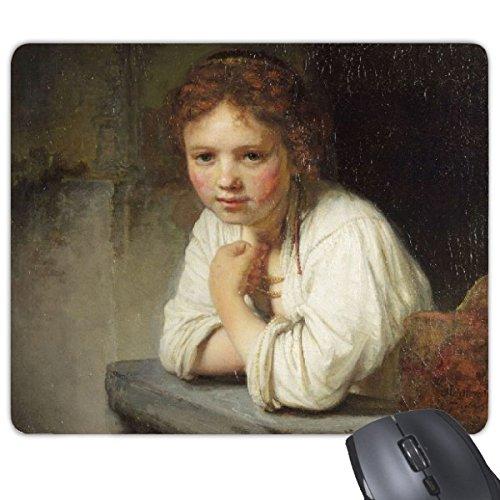 Maid Rembrandt Harmenszoon van Rijn Famous Oil Panintings Oils Rectangle Non-Slip Rubber Mousepad Game Mouse Pad