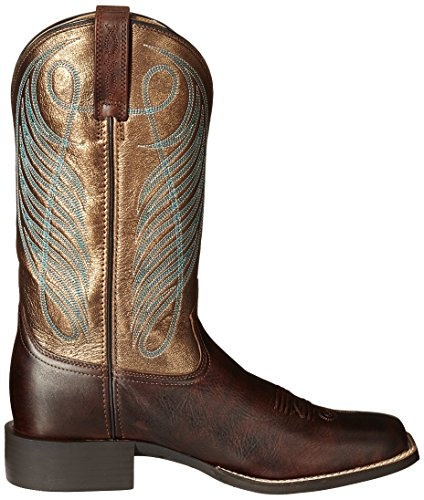 Boot Bronze Wide Yukon Cowboy Western up Square Round Ariat Brown Toe Women's 8qHaa