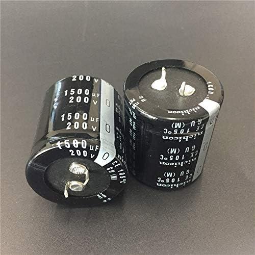 Jammas 2pcs 1500uF 200V GU Series 35x40mm High Quality 200V1500uF Snap-in PSU Aluminum Electrolytic Capacitor