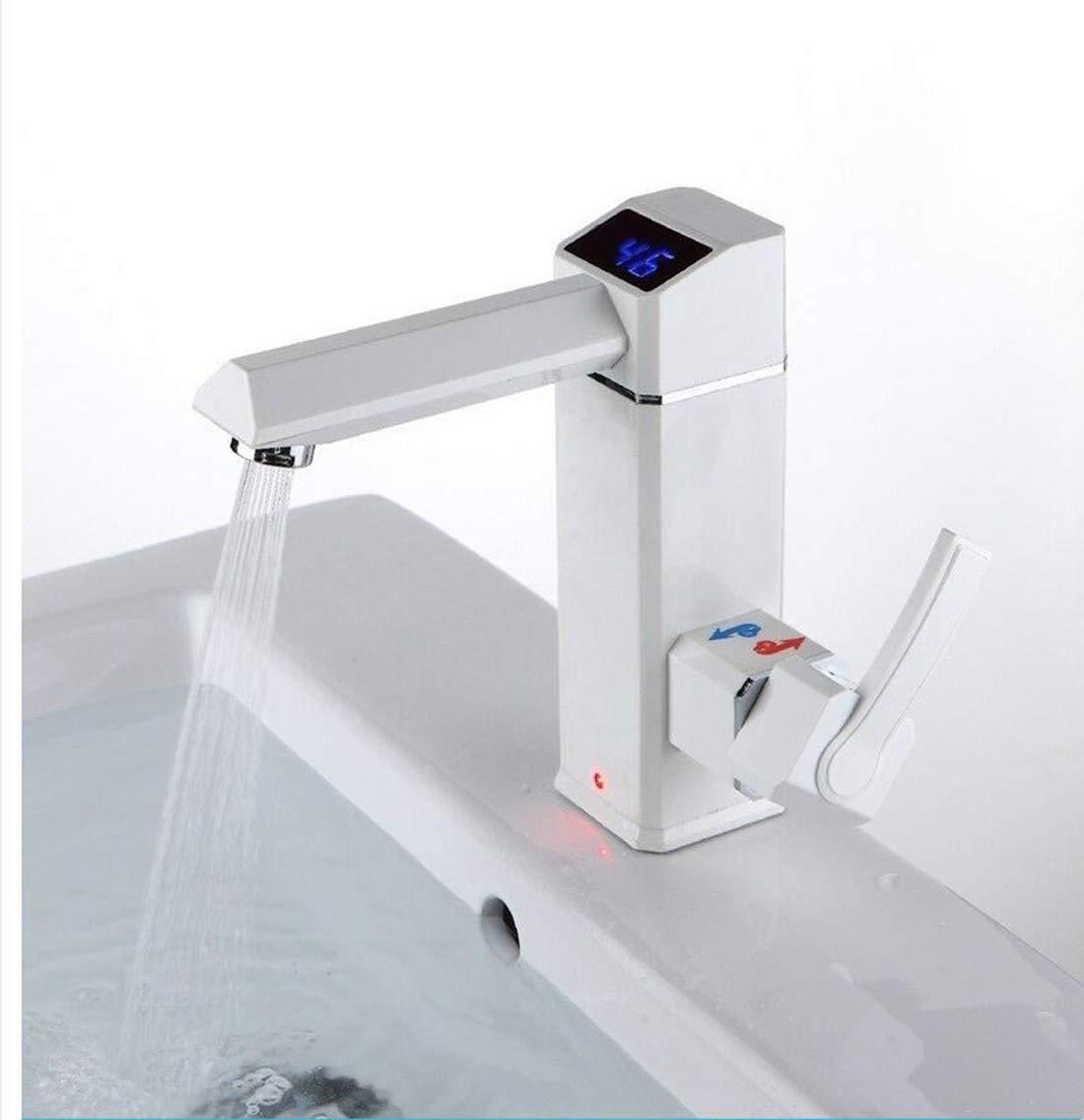 3500W Elektrischer DurchLäuferhitzer Tap Instantaneous Elektrischer Warmwasserhahn Tankless Heizung Bad Küchenarmatur,B