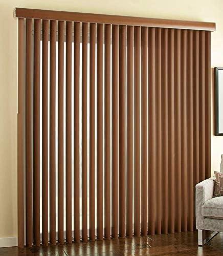Custom Faux Wood Vertical Blinds Choose Textured or Printed Real Grain Color