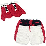 Jastore® Newborn Baby Photography Prop Boy Boxing Costume Gloves Shorts (Red Gloves)