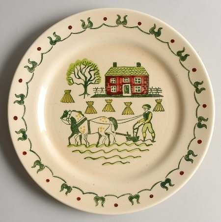 Provincial Homestead - Metlox Homestead Provincial Poppytrail Handpainted Dinner Plate Discontinued 1982 (10