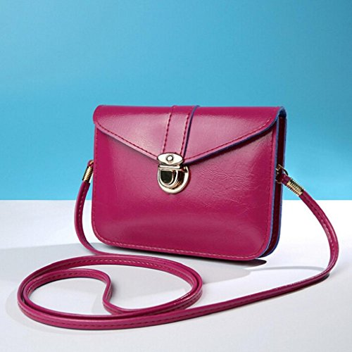 Fashion Single Purse Mini Purple Bag Leather Handbag Zero Bag Phone Creazrise Shoulder Zq06dAww