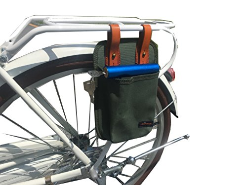 Tourbon Canvas & Leather Bicycle U-lock Tote Bike Lock Holster Bag price
