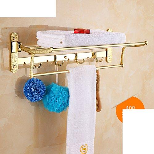 chic Towel shelf /Towel rack bathroom activities/European antique folding/Bathroom racks-D