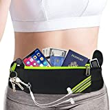 Slim iPhone Running Pouch Belt,Phone Fanny Pack for Women Men,Workout Gym Waist Pack Bag,Reflective Runners Belt Jogging Pocket Belt for iPhone XS,XR,7 8 Plus,Travelling Money Phone Holder for Running