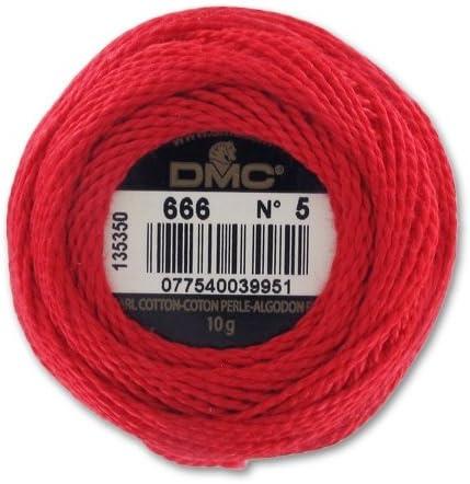 DMC Algodón perlé n°5 Rojo (666) x45m: Amazon.es: Juguetes y juegos