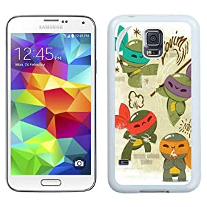 Durable and Easy set Galaxy S5 Case,Durable I9600 Case Design with Teenage Mutant Ninja Turtles 2 Samsung Galaxy S5 SV I9600 Case in White