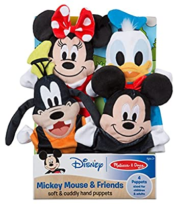 Melissa & Doug Mickey Mouse & Friends Soft & Cuddly Hand Puppets Plush by Melissa and Doug