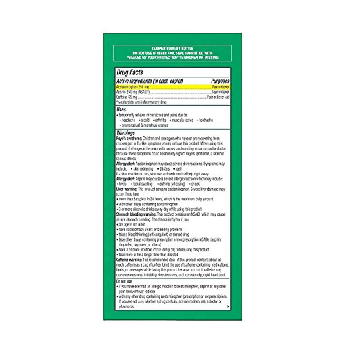 Excedrin Extra Strength Pain Relief Caplets 300 count For Headache Relief