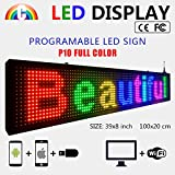 CT Colorful P10 Outdoor WiFi Scrolling Texts Messages Board led Sign