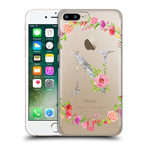 - Head Case Designs Letter N Decorative Initials 2 Hard Back Case Compatible for iPhone 7 Plus/iPhone 8 Plus