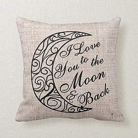 CELYCASY - Funda de cojín Decorativa con Texto I Love You to ...