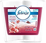 Febreze Scented Candle Fresh Twist Cranberry Air Freshener (1 Count, 4.3 Oz), 0.269 Pound