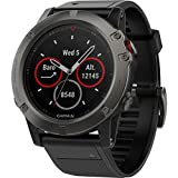 Garmin Fenix 5X Sapphire Slate Gray With Black Band, One Size