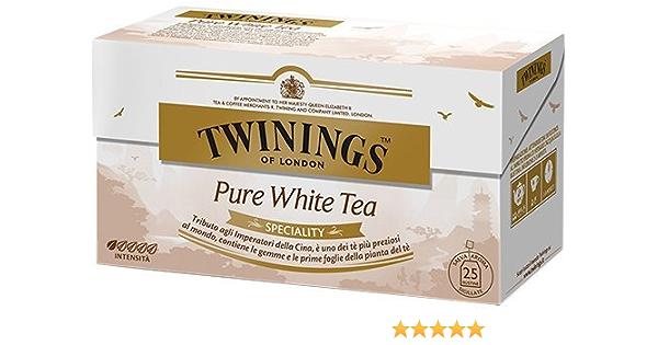 Twinings Speciality - Pure White Tea - Precioso Té Blanco con Gemas y las Primeras Hojas de la Planta de Té - Inspirado por los Emperadores de China - Perfume Fresco y
