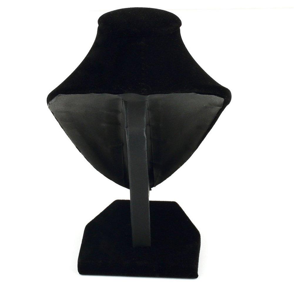 Maniqu/í de terciopelo negro para colgar collares y joyas accesorios Jasminelady expositor soporte para joyas