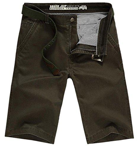 Somo Lite Men's Casual Solid Summer Cotton Plain Front Cargo Short