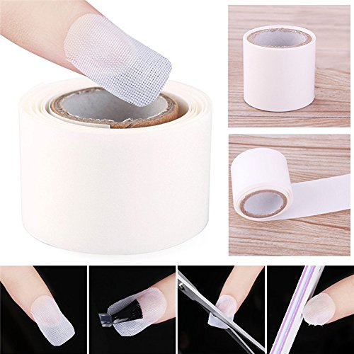 (?Nail Wrap Sticker Maserfaliw 100cm Faux Silk Nail Wrap Sticker UV Gel Acrylic Nail Protector Manicure Tool - White, Necessary Home, Travel, Office, Crafts, Holiday Gifts.)