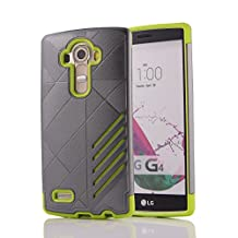 MOONCASE LG G4 Case Hybrid Armor Tough Rugged [Anti Scratch] Dual Layer TPU +PC Frame Protective Case Cover for LG G4 Grey Green