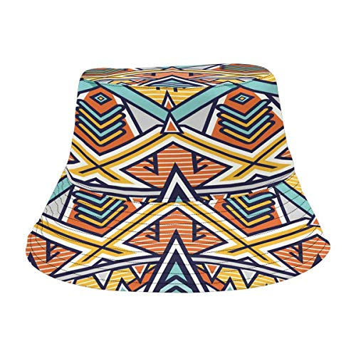 (InterestPrint African Art Tribal Print Bucket Hats Outdoor Sun Hats)