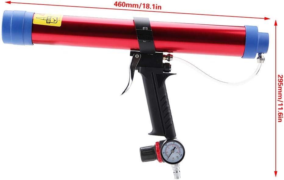 FTVOGUE Pistola de Aire con Sellador de Pegamento de Vidrio Neum/ático de 300~600 ml con 8 Cabezales de Calafateo