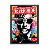 Locking Movie Poster Frame 36x48 Inches, Black SnapeZo 1.25'' Aluminum Profile, Lockable Front-Loading Snap Frame, Wall Mounted, Professional Series for One Sheet Movie Posters