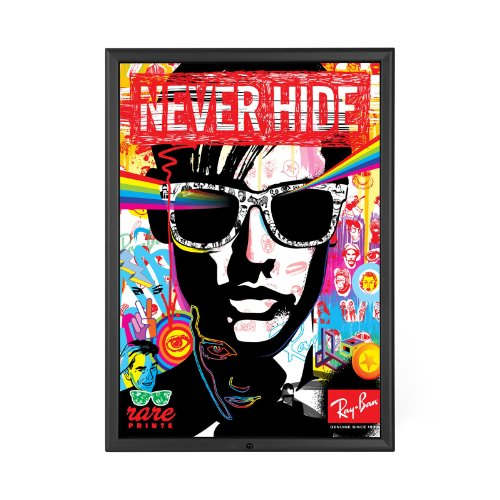 SnapeZo Locking Movie Poster Frame 36x48 Inches, Black 1.25""