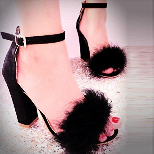 Chaussures Chaussures Haut De Dames Élégantes Sandales Mariage Noir De Talons De De Bureau Transer® Sandales Travail Femmes tvOqwx6wfn