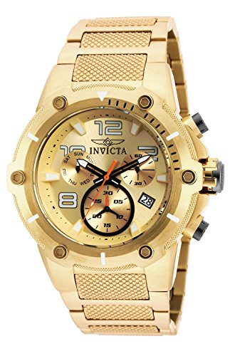 Invicta Men s Speedway Quartz Watch with Stainless Steel Strap, Gold, 30 Model 19529