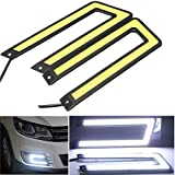 running boards e250 - CHAMPLED® 2x White 6000K COB Led Daytime Running Light DRL Headlight Fog Lamp U Shape C Self-adhesive For FORD CHRYSLER CHEVY CHEVROLET DODGE CADILLAC JEEP GMC PONTIAC HUMMER LINCOLN BUICK