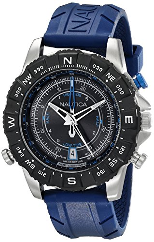 - Nautica Men's NAD20005G NSR 103 Stainless Steel Watch with Blue Band
