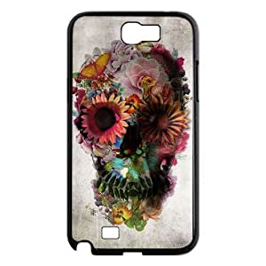 case Of Artistic Skull Customized Bumper Plastic Hard Case For Samsung Galaxy Note 2 N7100