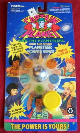 Captain Planet Light and Sound Planeteer Silver Power -